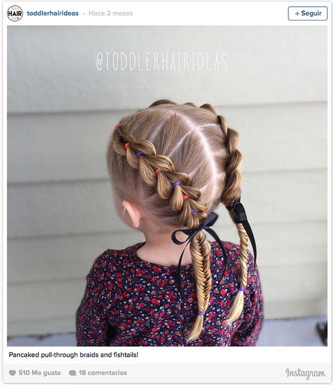 12 peinados con trenzas para las princesas del verano - Peinados De Ninas