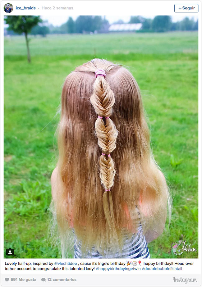 Peinados de trenzas para nina de 12