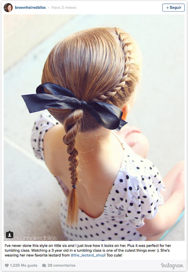 Doce Ideas De Peinados Recogidos Para Que Tus Hijas Esten Comodas Y - Peinados-de-nia