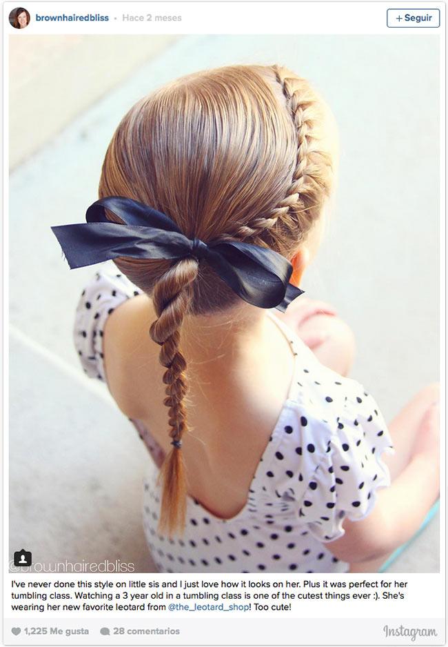 doce ideas de peinados recogidos para que tus hijas estén cómodas y