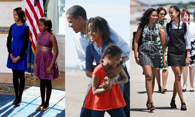 Así han cambiado Malia y Sasha Obama a su paso por la Casa Blanca
