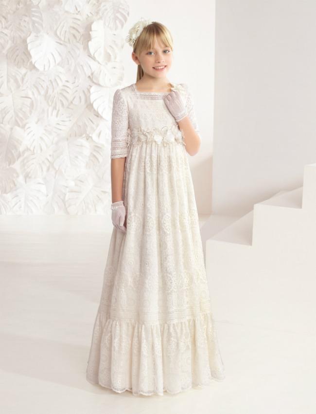 vestidos de primera comunion rectos