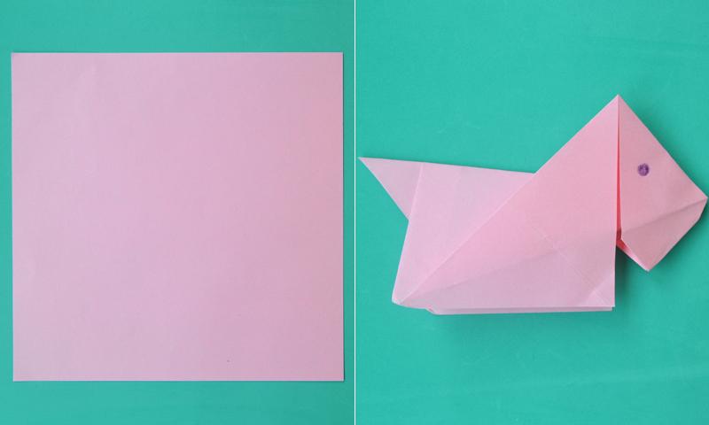 Manualidades Fáciles Cómo Hacer Un Perro De Origami Foto
