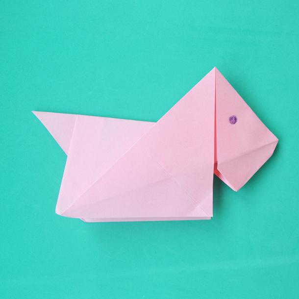 Manualidades Fáciles Cómo Hacer Un Perro De Origami Foto 1