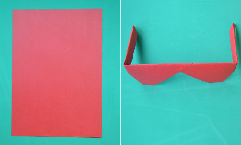 Manualidades Con Papel Como Hacer Unas Gafas De Origami En 5