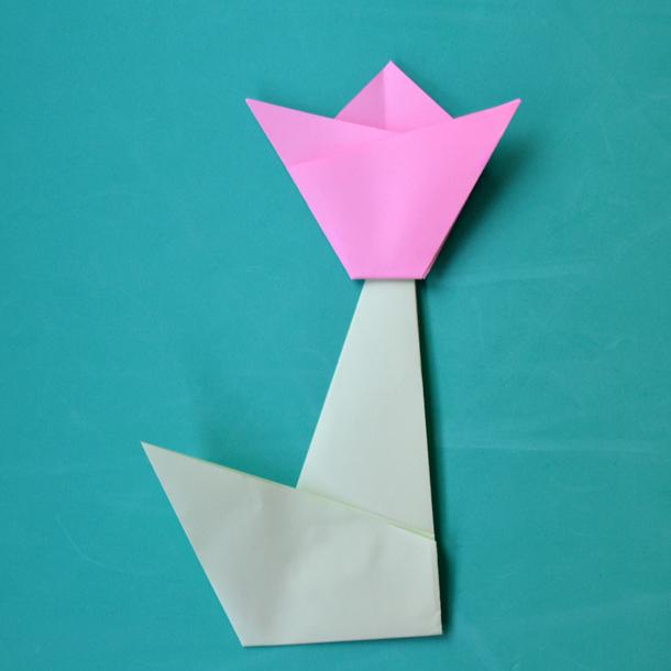 Papiroflexia Cómo Hacer Un Tulipán De Papel Foto 1