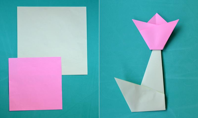 Manualidades: Descubre cómo hacer un tulipán de papel con la técnica de origami