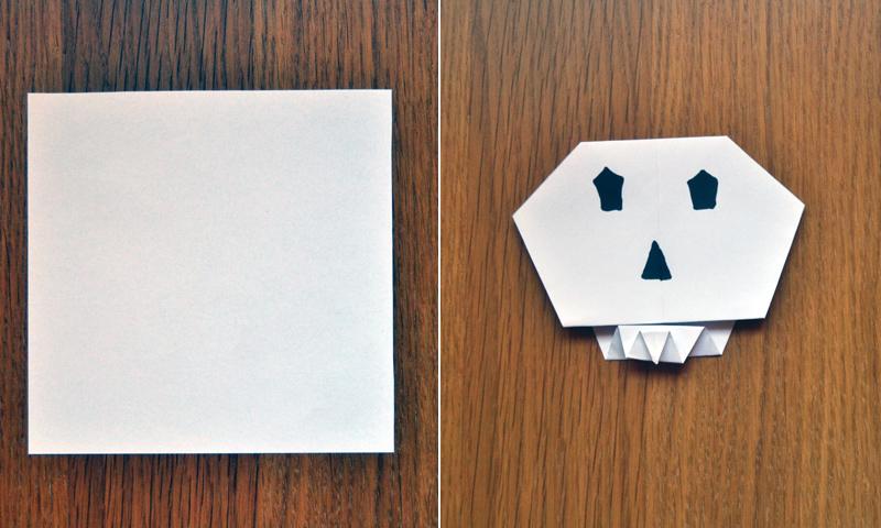 Manualidades para Halloween: cómo hacer una terrorífica calavera de papel