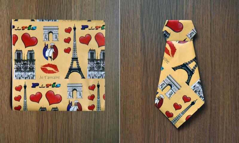 Manualidades para el Día del Padre: cómo hacer una corbata de papel, paso a paso