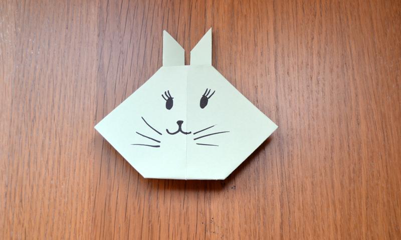 Manualidades f ciles c mo hacer un lindo conejo de pascua - Como hacer cosas de papel paso a paso faciles ...