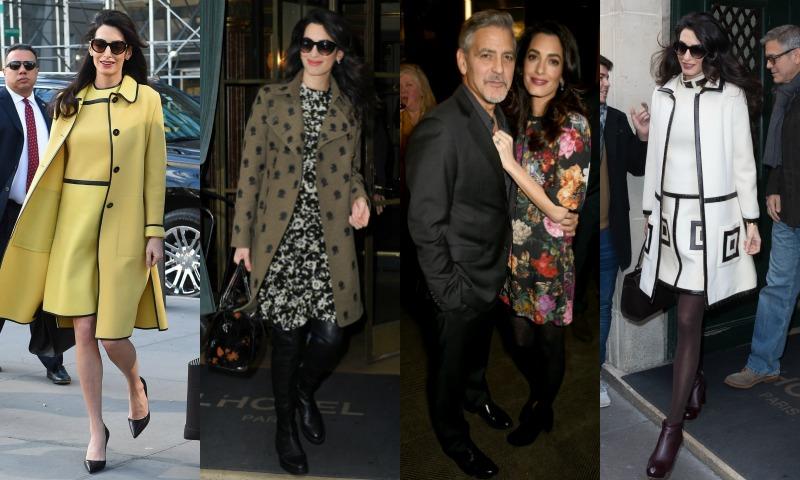 Amal Clooney es la premamá del año, y te vamos a explicar por qué en 8 'looks'
