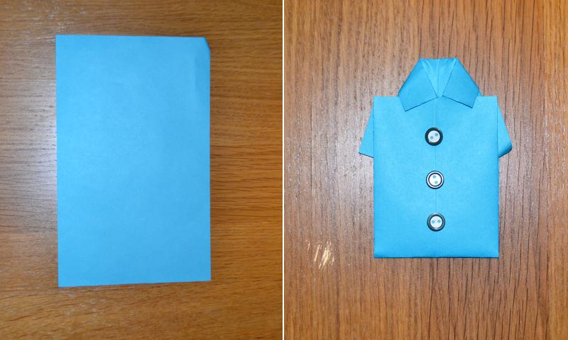 Manualidades fáciles: Enseña a tus hijos a hacer una camisa de papel