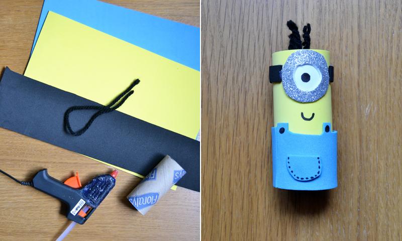 manualidades recicladas todo al amarillo aprende a hacer minions con rollos de papel y goma eva