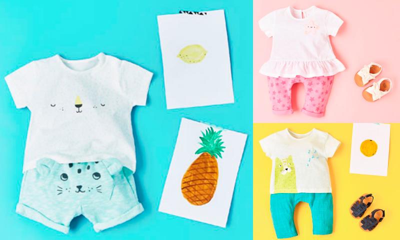 Moda infantil 25 prendas fresquitas para vestir a tu beb - Perchas para ropa de bebe ...