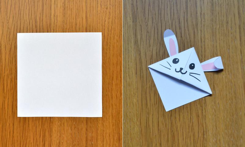 ¿Es tu hijo un gran lector? Enséñale a hacer un marcapáginas con forma de conejo