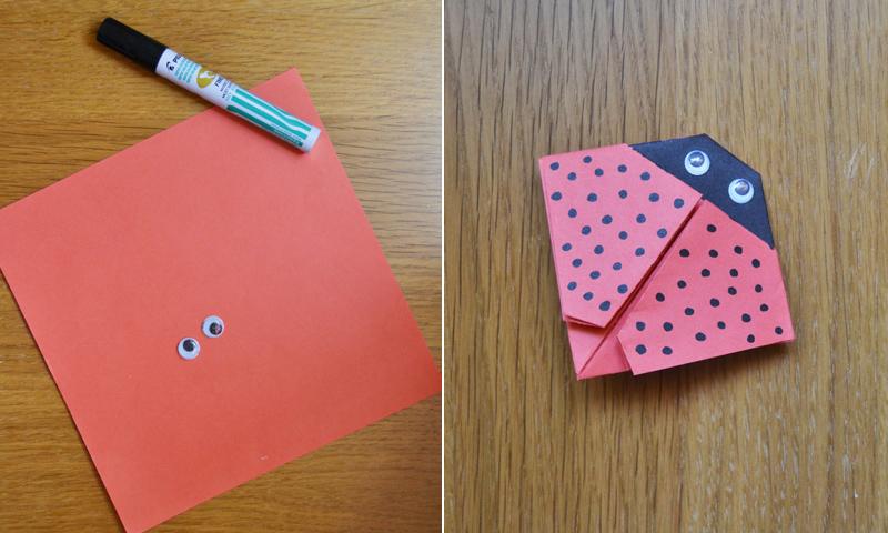 Manualidades fáciles: Cómo hacer una linda mariquita de papel