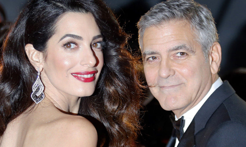 El significado de los nombresde los mellizos de George y Amal Clooney