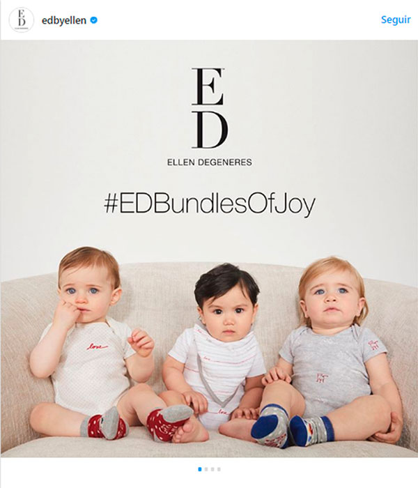 724d4af5b065 Ellen DeGeneres lanza su colección de ropa para bebés