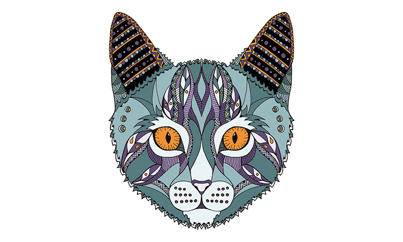 100 Mandalas De Animales Para Imprimir Y Colorear: Image Of Mandalas Para Pintar De Gatos Animaux Colorir