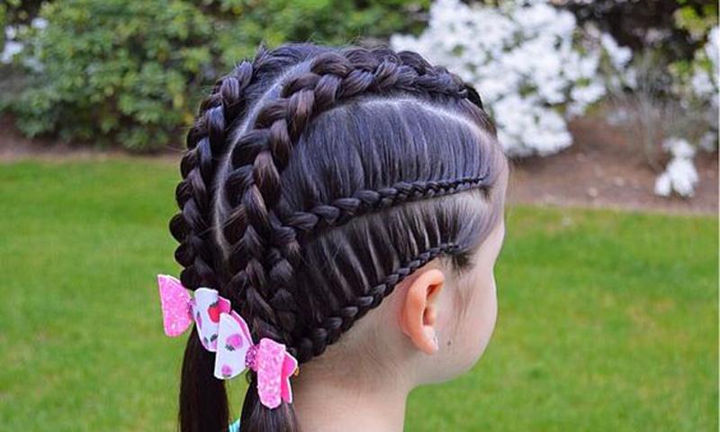 Cinco Peinados Con Trenzas Para Ninas - Peinados-con-tranzas