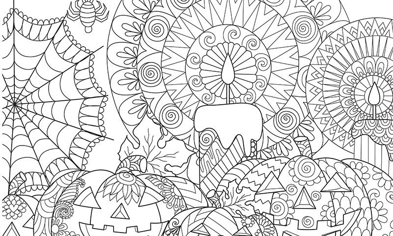 Mandalas para colorear con tus hijos para Halloween
