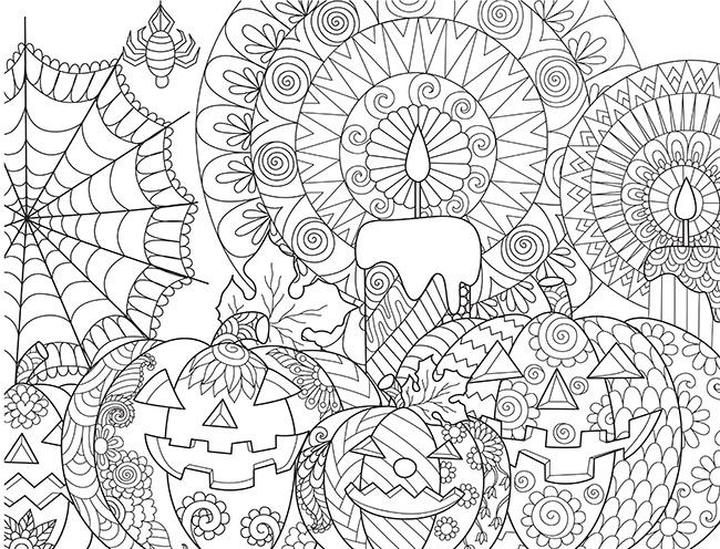Mandalas para colorear con tus hijos para halloween for Mandalas ninos