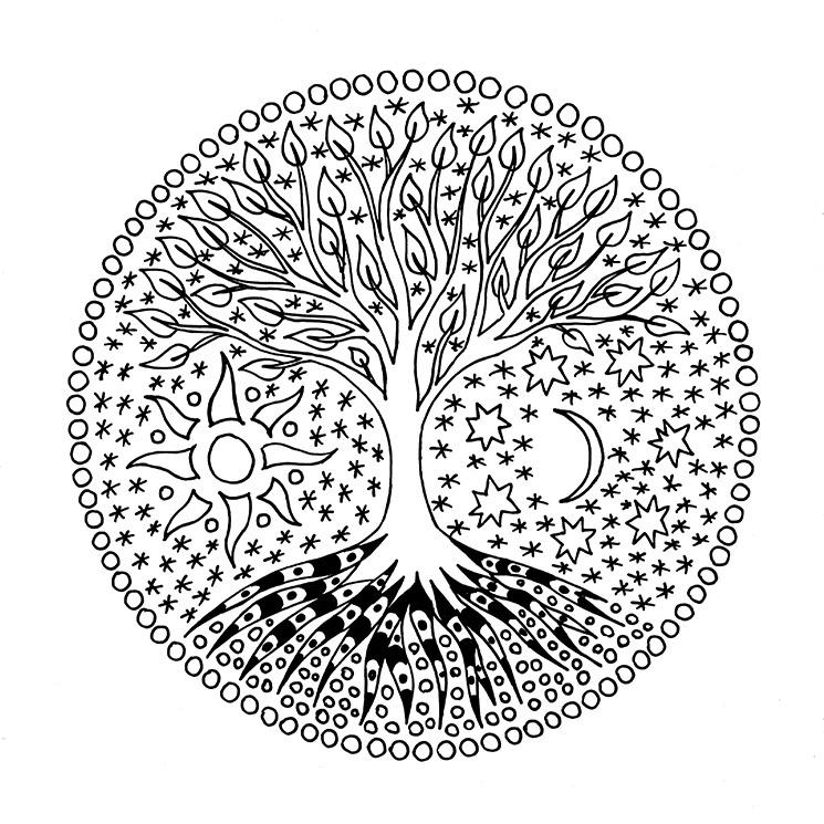 Mandalas Con El árbol De La Vida Tus Hijos Aprenderán A Conocerse A