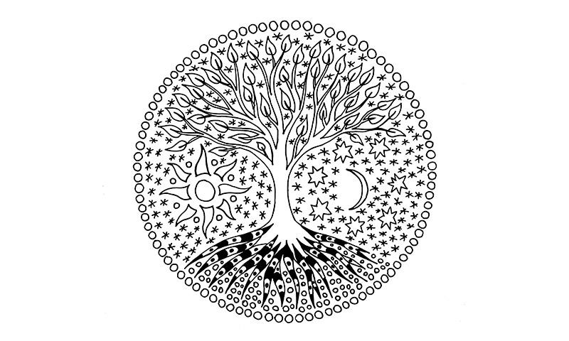 Mandalas Con El árbol De La Vida: Tus Hijos Aprenderán A