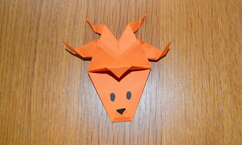 Esta Navidad enseña a tus hijos a hacer origami con esta figura con forma de reno