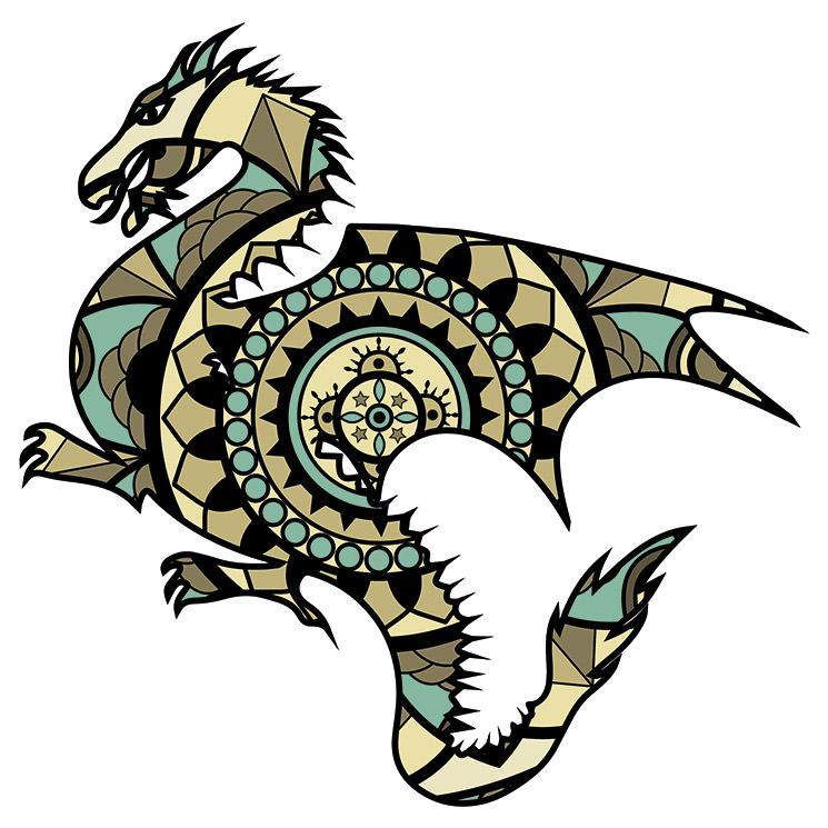 Mandalas De Dragones Mitología Y Diversión Para Tus Hijos