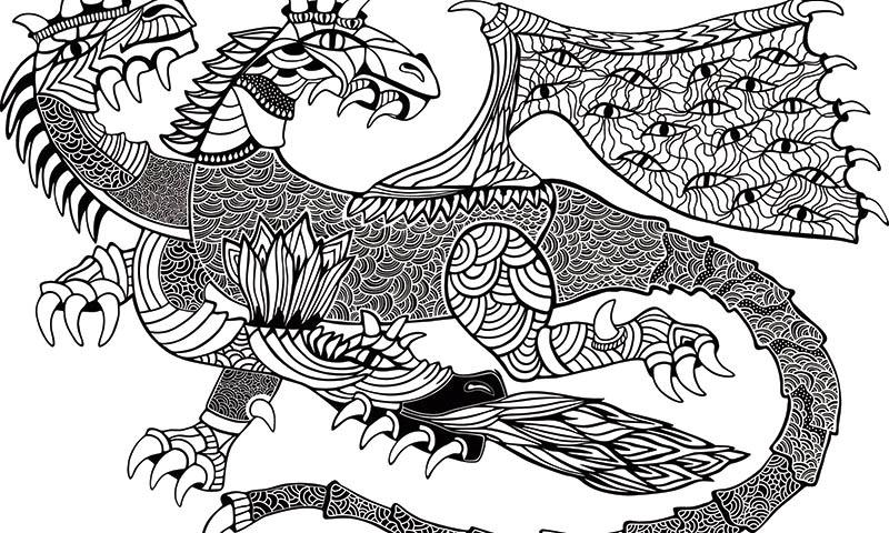 Dragones Feroces Para Colorear: Mandalas De Dragones: Mitología Y Diversión Para Tus Hijos