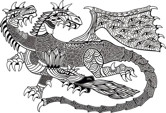 Mandalas de dragones: Mitología y diversión para tus hijos