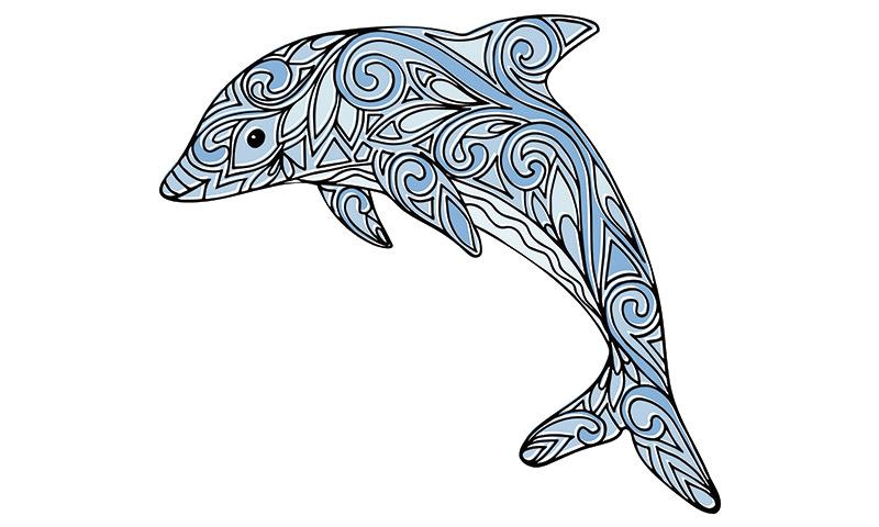Dibujos De Mandalas Para Colorear Para Ninos: Mandalas De Delfines Para Disfrutar Coloreando