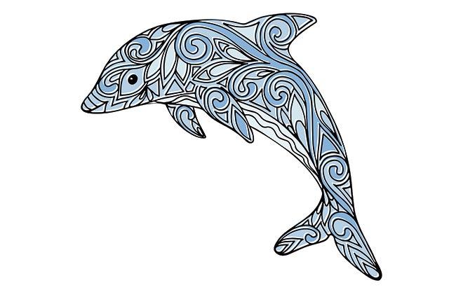 Mandalas de delfines para disfrutar coloreando