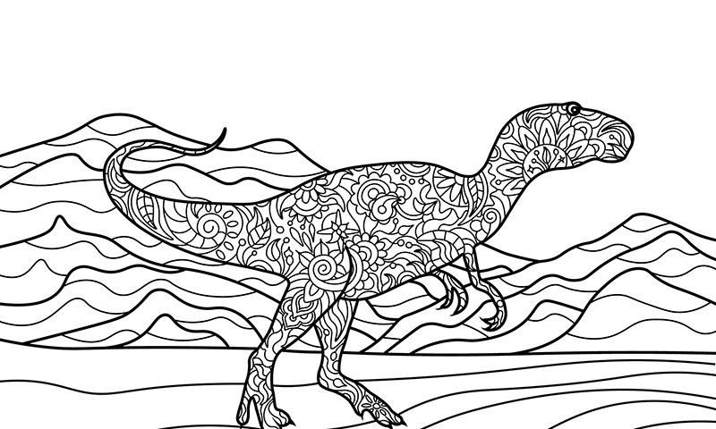 Mandalas Para Colorear Dinosaurios Animales De Leyenda Con Los Que