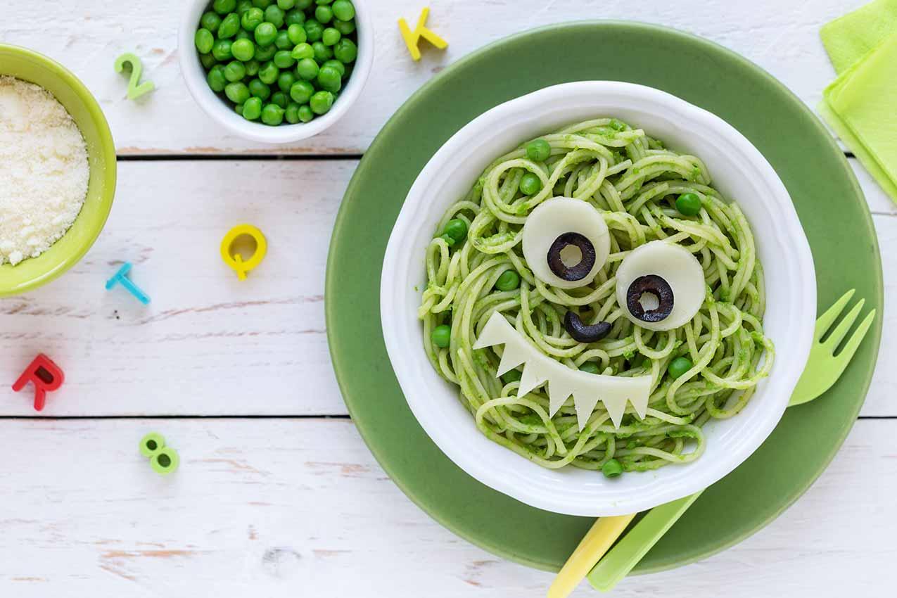 Comida vegetariana para niños
