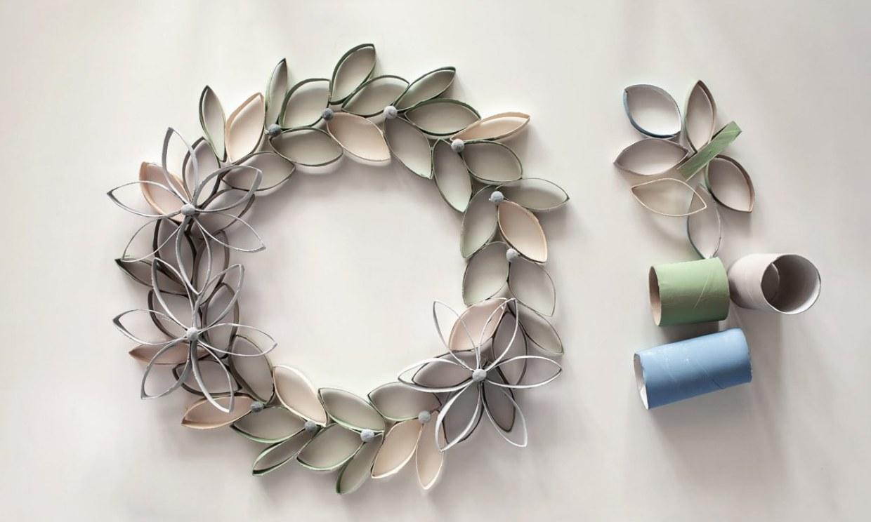 Cómo hacer flores con rollos de papel higiénico