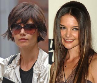 Katie Holmes, mejor con el pelo corto, según los internautas de hola.com