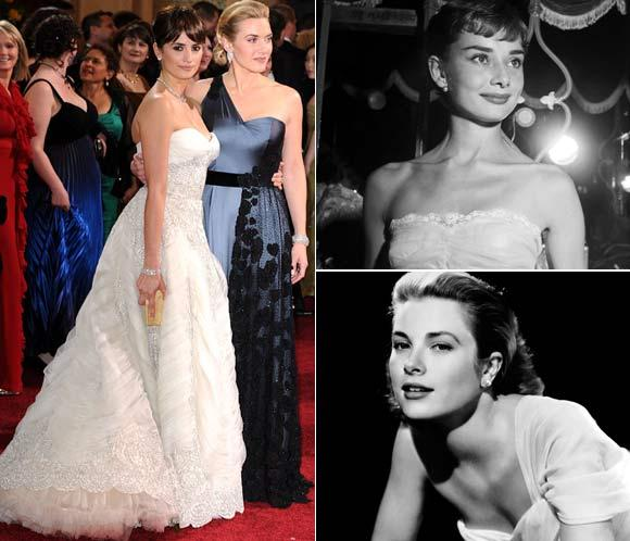 Penélope Cruz vs. Audrey Hepburn y Kate Winslet vs. Grace Kelly