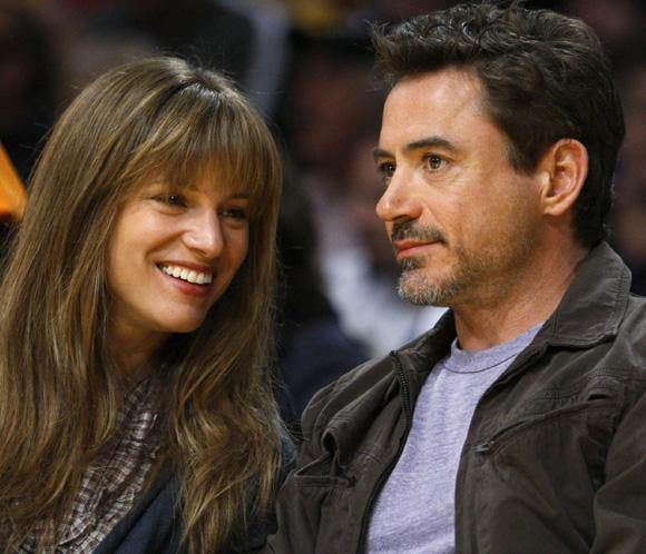 Robert Downey Jr y Susan Levin, amor y confidencias en la NBA