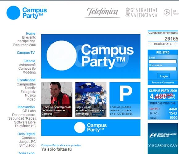 Comienza la 'Campus-party 2009'
