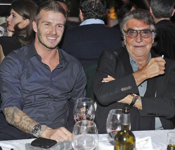David Beckham, invitado de honor de Roberto Cavalli