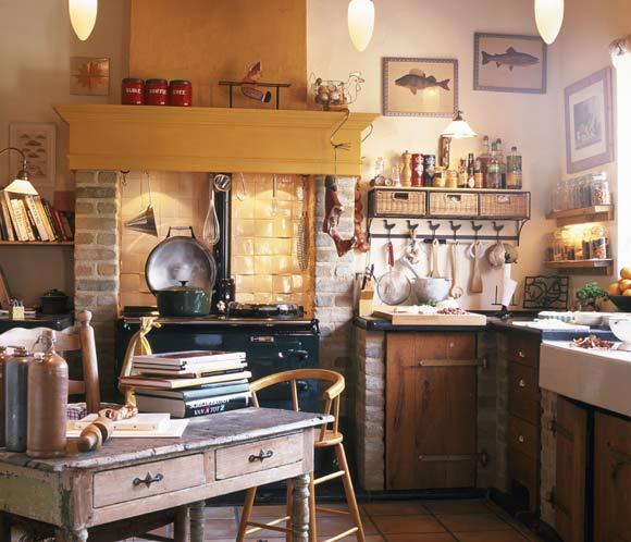 Cocinas r sticas vuelve el encanto de lo tradicional - Fotos de cocinas rusticas de campo ...