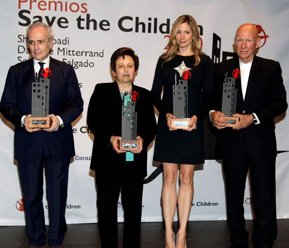 Save the Children premia a la actriz Mira Sorvino y al tenor Josep Carreras