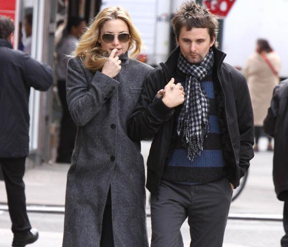 Kate Hudson y su novio Matt Bellamy, líder de Muse, esperan su primer hijo