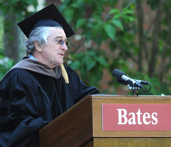 Robert de Niro, investido Doctor Honoris Causa por la Universidad Bates College