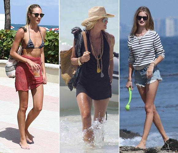 El estilo de las 'celebrities' en la playa