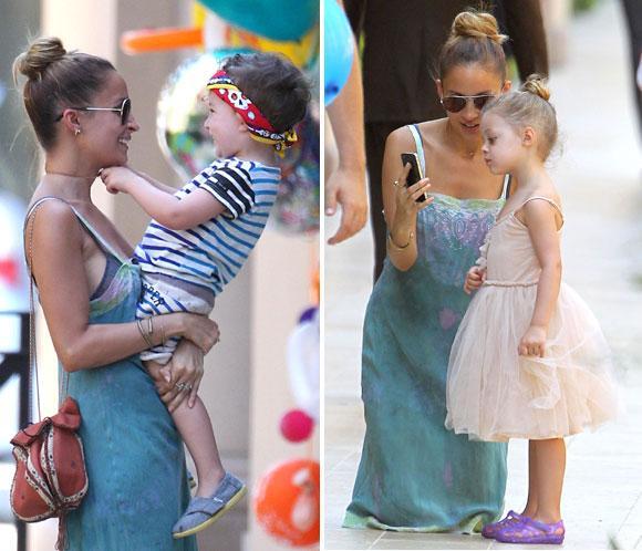 Nicole Richie se deshace en mimos con sus hijos, Harlow y Sparrow