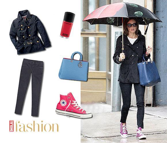 El street style de Olivia Palermo: Un look sencillo con toques de color