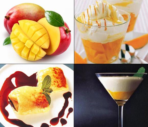 Postres con mango, exótico placer tropical